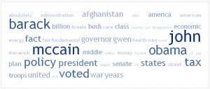 Words Sen. Biden used during the debate.